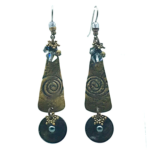 Tofino Blue Earrings, 3 inches