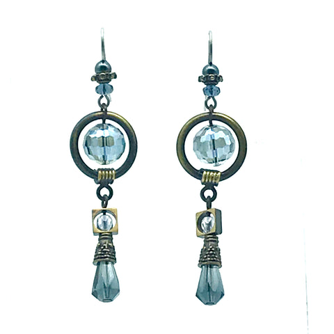 Tofino Blue Earrings, 2 1/2 inches