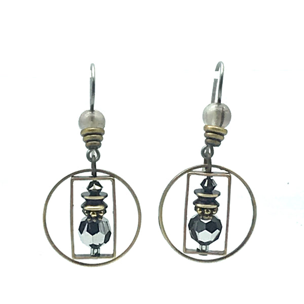 Silver Mist Earrings, 1 1/2 inches