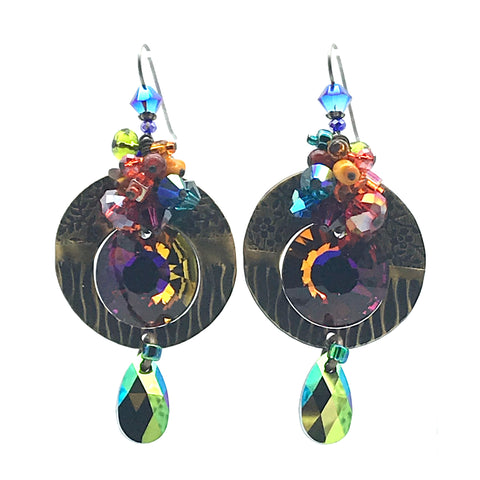 Galaxy Earrings, 3 inches