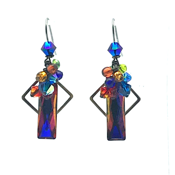 Galaxy Earrings, 1 7/8 inches