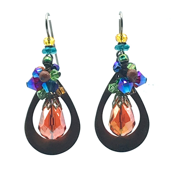 Galaxy Earrings, 2 inches