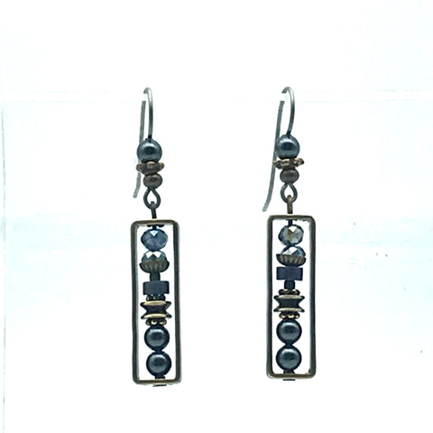 Tofino Blue Earrings, 1 7/8 inches