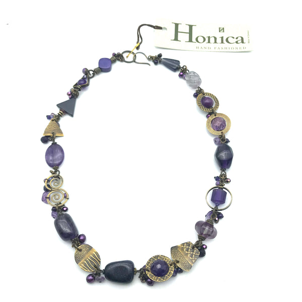 Passion for Purple Necklace, 20 inches