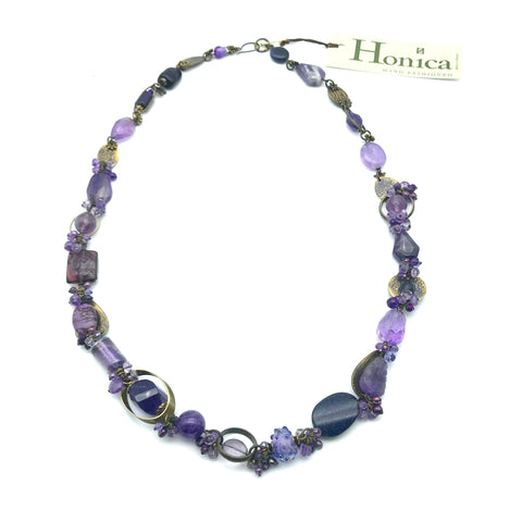 Passion for Purple Necklace, 29 inches