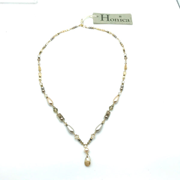 Champagne Cream Necklace, 27 inches