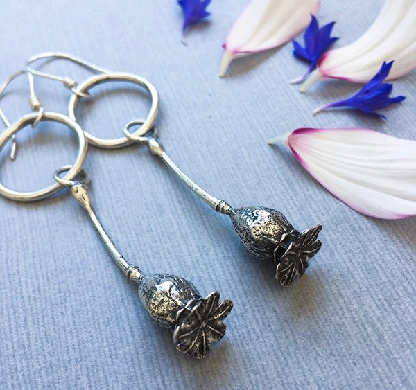 Sterling Silver Big Sister Poppy Earrings