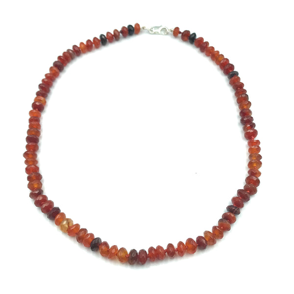 Sterling Silver with Fire Agate Necklace