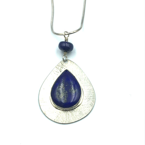 Sterling Silver with Lapis Lazuli Pendant Necklace