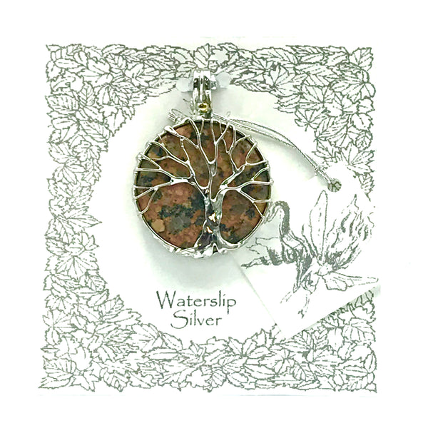 Granite with Tree of Life Pendant Necklace