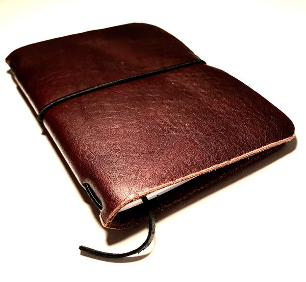 Small Leather Notebook, Dark Brown