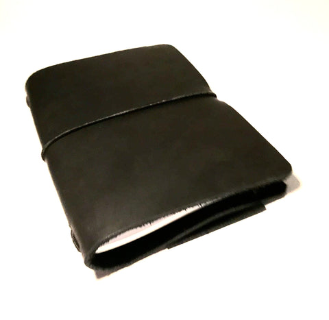 Small Leather Notebook, Black