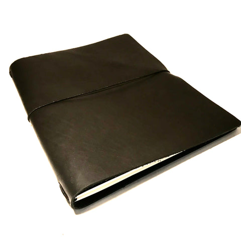 Large Leather Notebook, Black