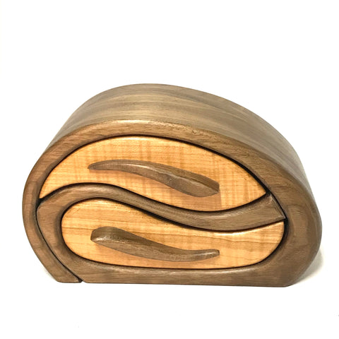Wooden Jewelry Treasure Boxes, Whales Play