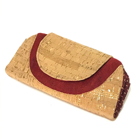 Cork and Felted Wool Clutch Purse