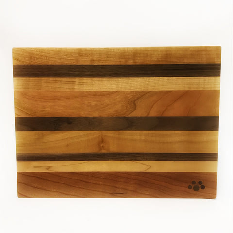 Small Chopping Board, Maple, Cherry and Walnut 12 x 8 3/4 inches