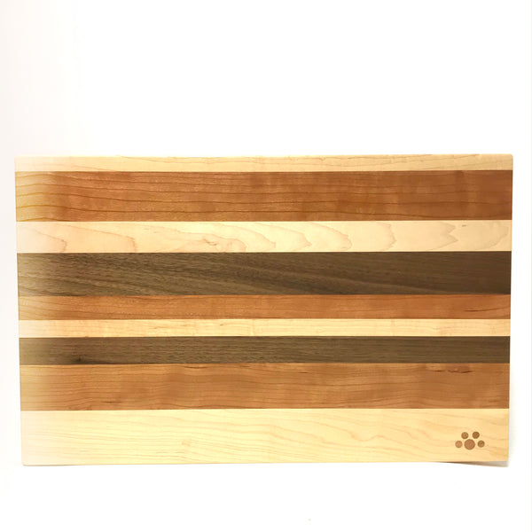 Small Chopping Board, Maple, Cherry and Walnut 12 x 9 inches