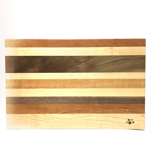 Large Chopping Board, Maple, Cherry and Walnut 17 x 10 3/4 inches