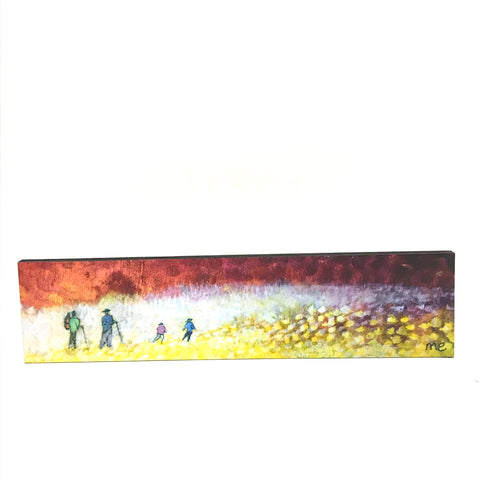 "Block Mount Red Sky Hikers  "" 3"" x 12"""