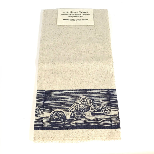 Tea Towel with Seals Print Design