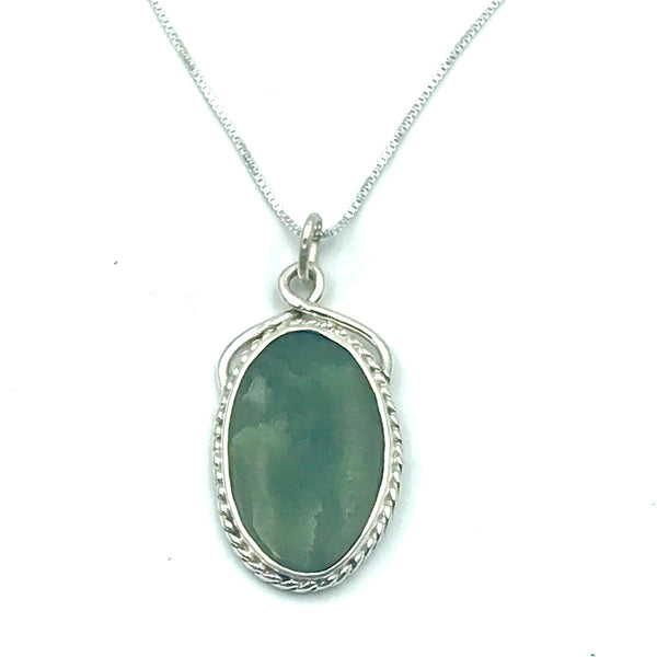 Sterling Silver with B.C. Jade Pendant Necklace