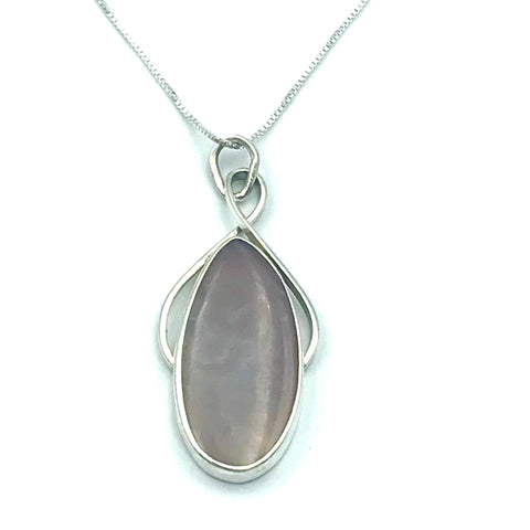 Sterling Silver with Lavender Agate Pendant Necklace