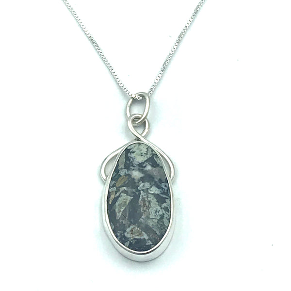Sterling Silver with Vancouver Island Dallasite Pendant Necklace