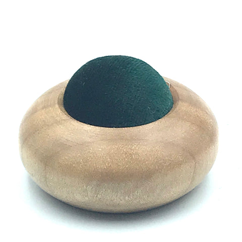 Mini Wood Pin Cushion, Green