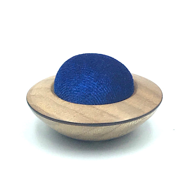 Mini Wood Pin Cushion, Blue