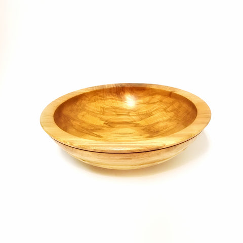 Wooden Big Leaf Maple Bowl 10 1/2 x 3 inches