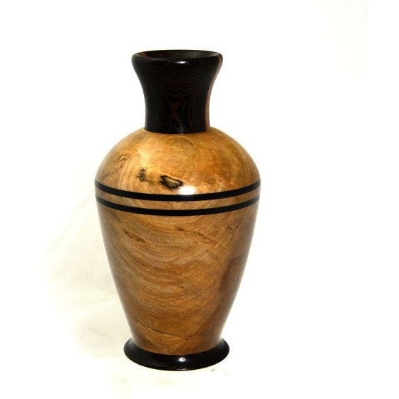 WESTERN MAPLE WOOD & WENGE VASE - Side Street Studio