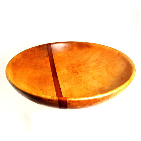 LARGE ARBUTUS AND MAHOGANY SALAD BOWL - Side Street Studio - 1