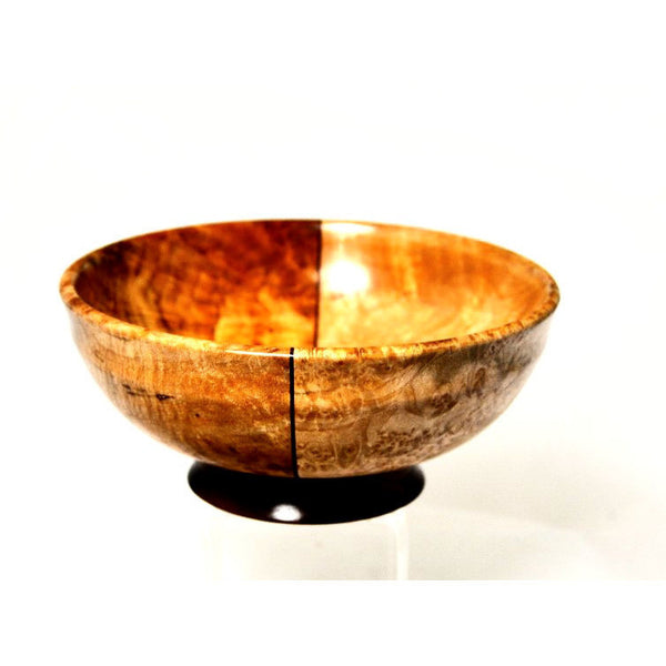 BLACK WALNUT AND MAPLE BURL SMALL BOWL