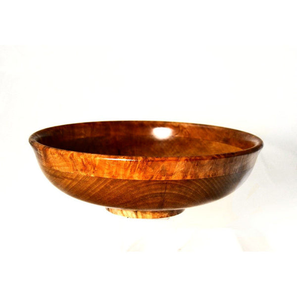 ARBUTUS AND MAPLE BURL SALAD BOWL - Side Street Studio - 1