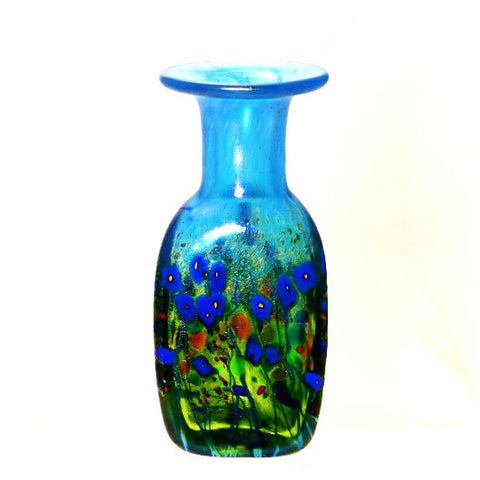 BLUE  POPPY MINI TRIANGLE VASE - Side Street Studio