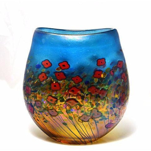 California Poppy Flat Crucible medium vase