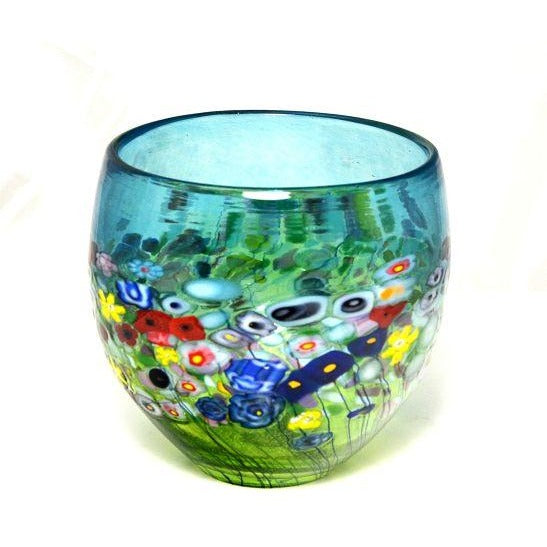 FLOWER BOUQUET ROUND VASE