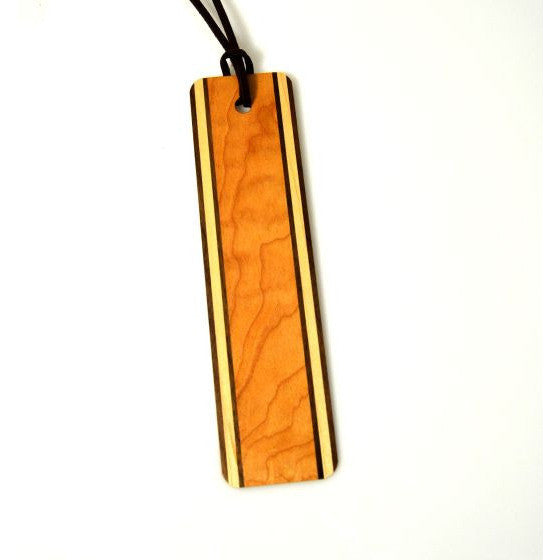 HAND MADE WOODEN BOOKMARK - MAPLE & WALNUT - Side Street Studio