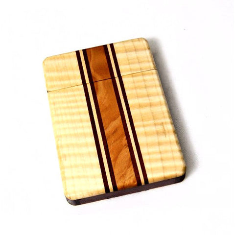 WOODEN HINGED WALLET - Side Street Studio - 1