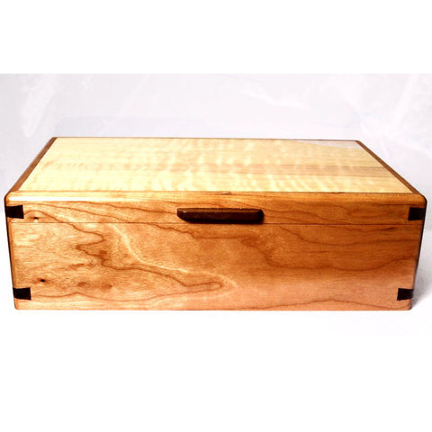 CHERRY, WALNUT AND WESTERN MAPLE JEWELRY BOX - Side Street Studio - 1