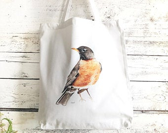Robin Tote Bag by Emma Pyle Art