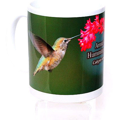 HUMMINGBIRD PRINTED CERAMIC MUG ANNA'S - Side Street Studio