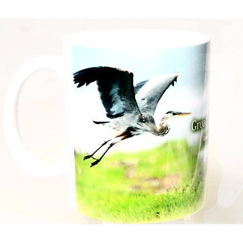 GREAT BLUE HERON DESIGN MUG - Side Street Studio