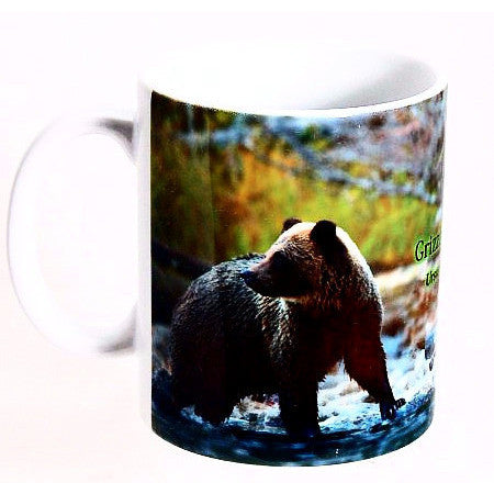 GRIZZLY BEAR PRINT DESIGN MUG - Side Street Studio