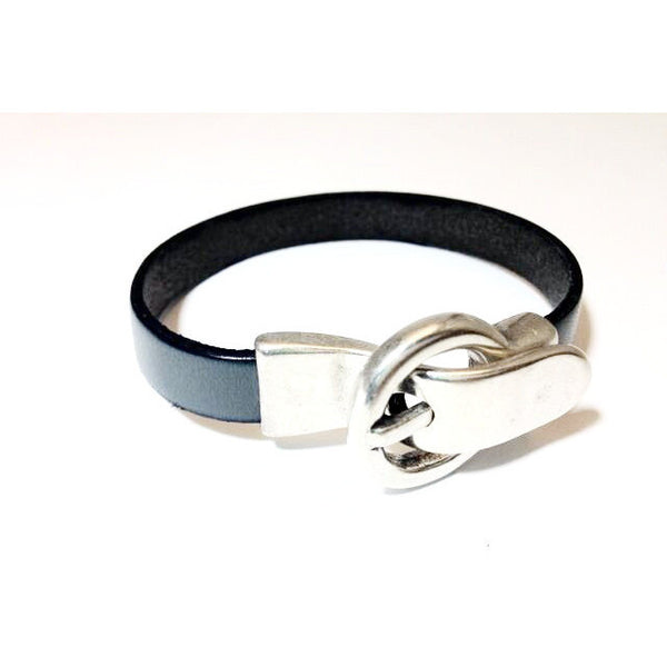 SINGLE LEATHER WRIST WITH BUCKLE CLASP - L