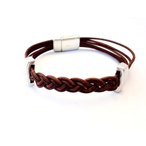 SINGLE MULTI STRAND PLAITED BRACELET - Side Street Studio