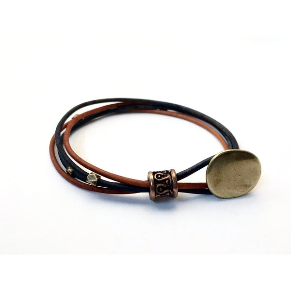 MULTI STRAND LEATHER BRACELET
