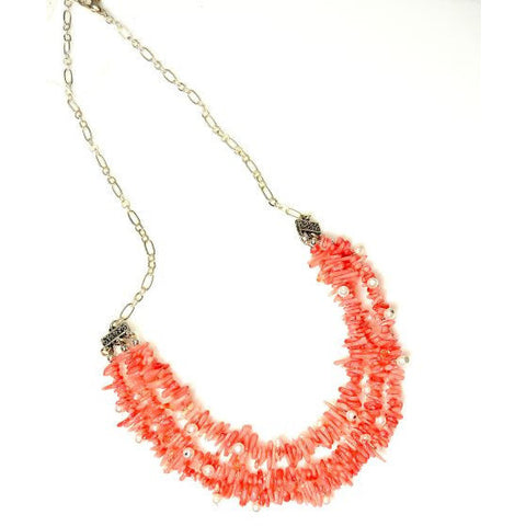 OTAGO BAY BAMBOO CORAL NECKLACE - Side Street Studio