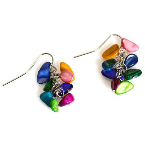 FIESTA SHELL EARRINGS - Side Street Studio