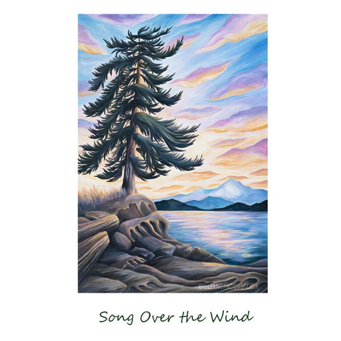 """SONG ON THE WIND"" 8X10 MATTED PRINT"